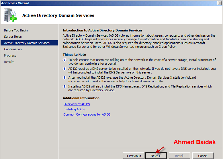 أنشاء Domain Windows server
